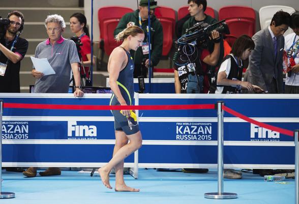 Sarah Sjöström knallar ut efter att ha blivit tvåa på 100m fritt.