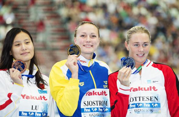 Sveriges nionde VM-guld genom tiderna - till Sarah Sjöström på 50m fjärilsim