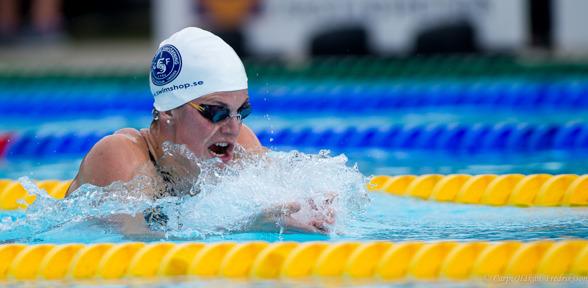 Stina Gardell vann naturligtvis 400m medley överlägset idag.