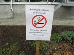 Jo det finns rökare på SM. Det fanns en i rökrutan bakom presstornet idag.....