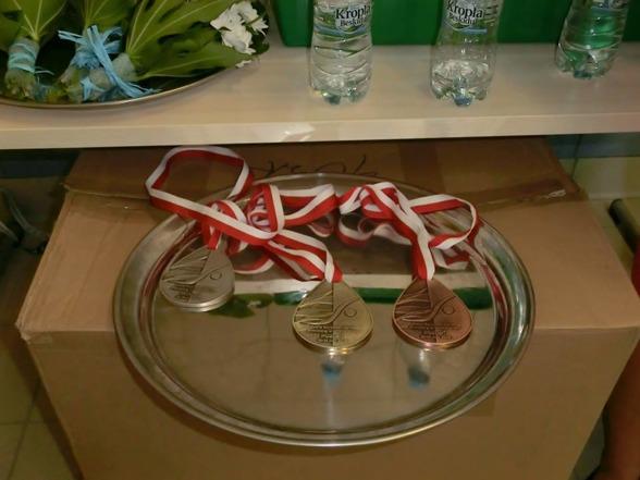 Så här ser årets medaljer ut på EJM. Äntligen fick vi chans att se dem.
