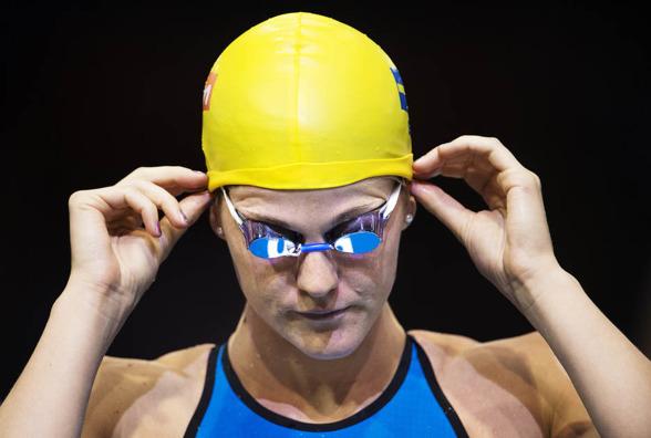 Stina Gardell var tre sekunder över sin lagkappstid från igår på 200m fritt