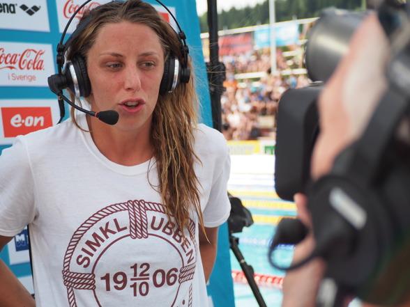 Jennie Johansson vann sitt sjätte raka SM-guld på 50m bröstsim