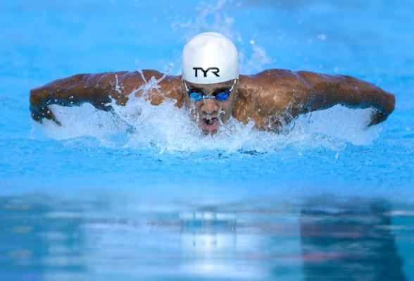 Simon Sjödin satta Mästerskapsrekord på 200m fjärilsim