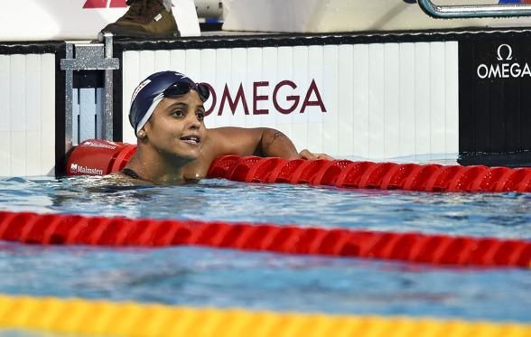 Etiene MEDEIROS simmade sig till final på 50m ryggsim