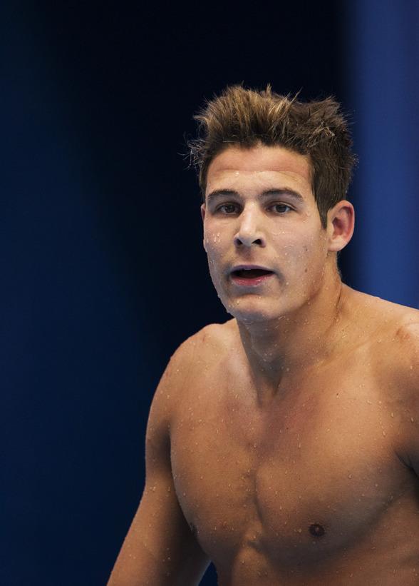 Christoffer Carlsen simmade 100m fritt i dagens förskstävlingar