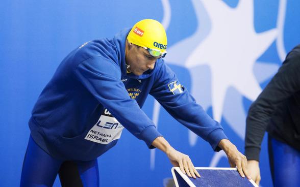 Christoffer Carlsen ställer in Omega Trackstarten inför 100m fritt