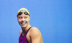 Louise Hansson tog sin första individuella medalj i seniorsammanhang.