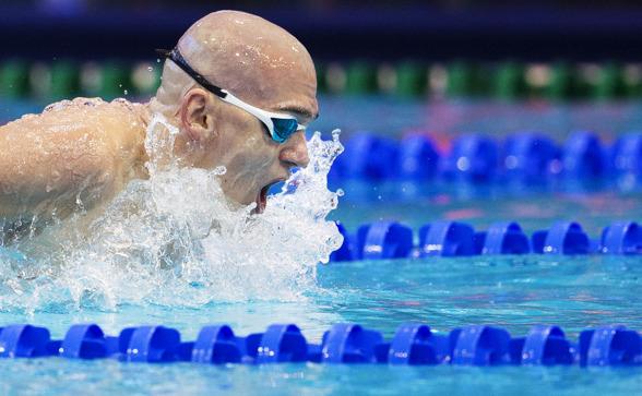 Laszlo Cseh - tvåa i semin på 100m fjärilsim
