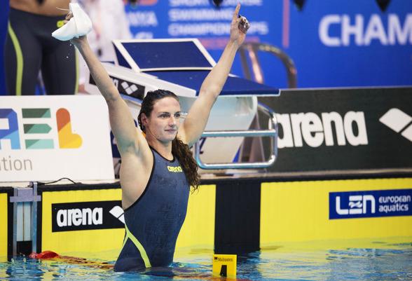 Katinka Hosszu slog till med världsrekord på 400m medley redan i försöken.