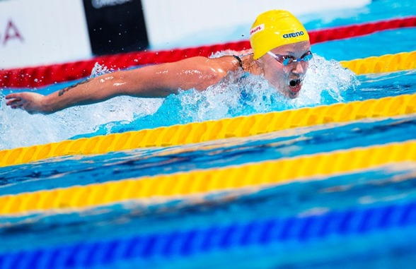 Sarah Sjöström snabbast i semifinalen på 100m fjärilsim - 57.10 - Världsårsbästa