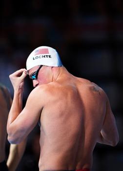 Ryan Lochte simmade 200m fritt försök i morse.