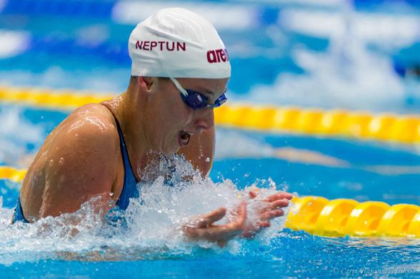 Jennie Johansson Neptun vann 100m bröstsim för damer