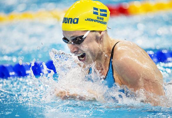 Jennie Johansson blev femma på 50m bröstsim ikväll.
