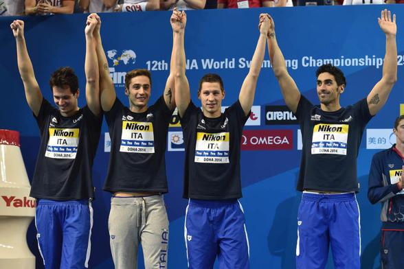 Italiens silverlag på 4x200m fritt