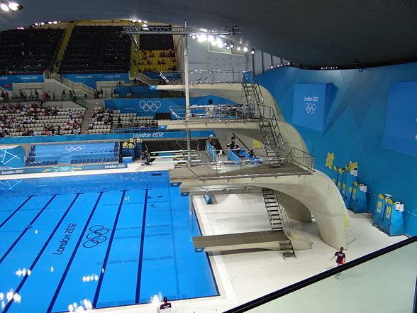 2012 stod London Aquatics Centre värd för OS och nu fyra år senare rymmer arenan EM i simhopp.