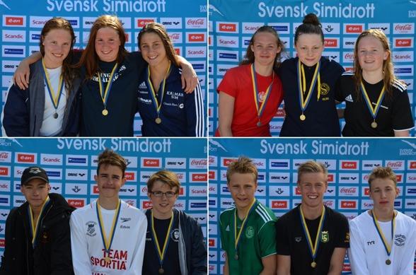 Här en samling av medaljörerna från Sum-Sim 2015 som simmades i Trollhättan. Foto: Ervin Jenc