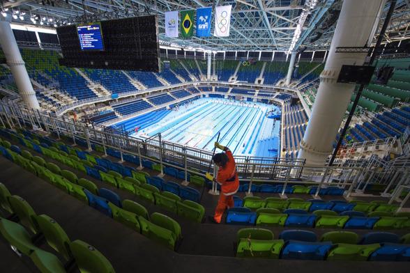 Finputsning av OS-arenan i Rio
