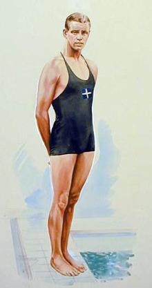 Arne Borg är ende svensk med medaljer på OS.