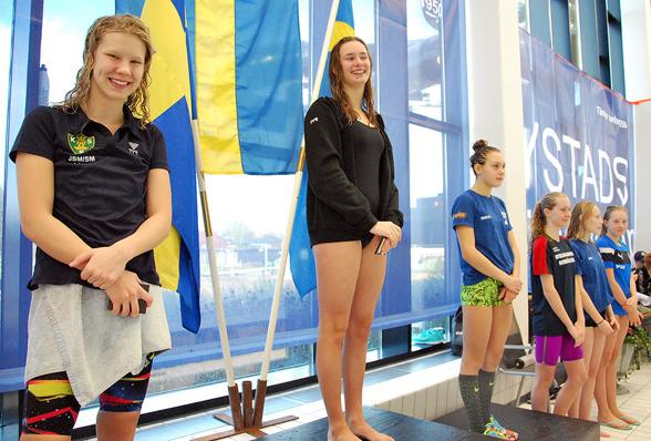 Ystad - prispallen bestod av  Linn Rosenius, Isabelle Sering, Emilia Rönningdal, Wilma Svensson, Moa Karlsson, Emilia Olsson