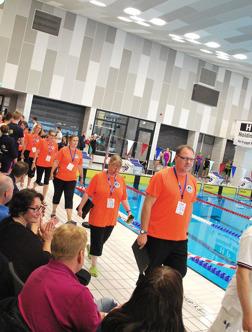 Ystad - inmarsch av funktionärer innan tävlingarna.