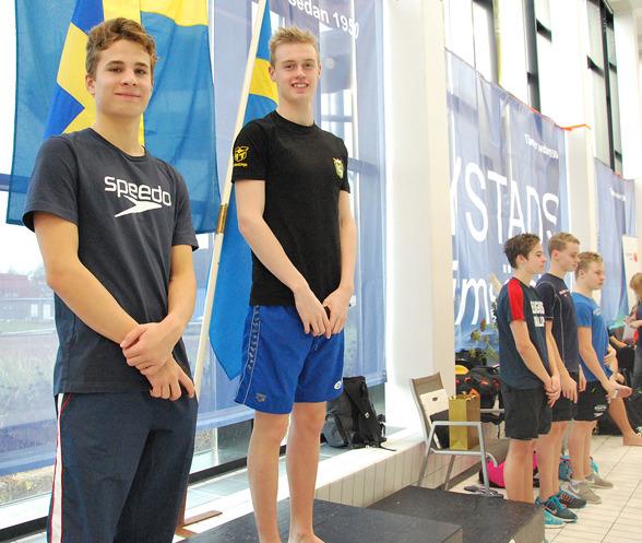 Ystad - på pallen Stefan Varga, Emil Hassling, Dante Vollmer, Tim Brinkhagen, Nicolas Nolén.