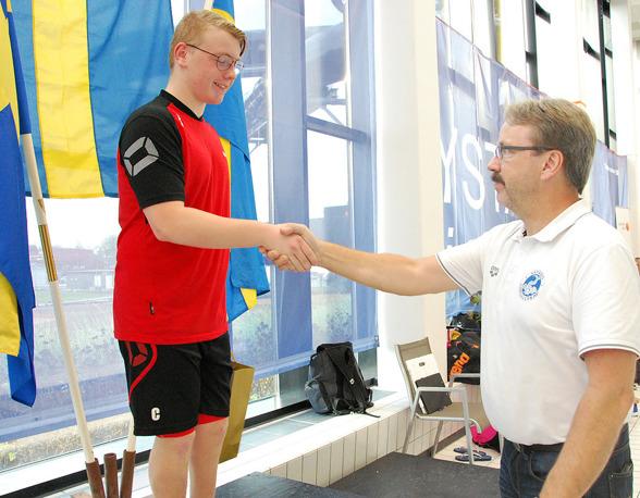 Ystad - bra där - Svenskt rekord i klassen S8. 800 frisim 10.54.78. Fabian Claesson från SS Delfin i Knislinge.