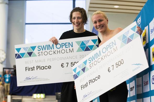 Henrik Christiansen och Sarah Sjöström högsta poängen under Swim Open