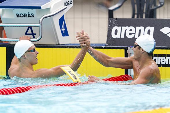 Delat guld på 100m fritt mellan Isak Eliasson och Christoffer Carlsen