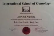 Även innehållslösa diplom kan vara dekorativa... men även om ISG inte håller vad som lovas, håller verkligen GIA och Gem-As kurser tillräcklig nivå idag?