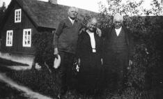 SVERIGEBESÖK 1931 - NILS GRANT till vänster ANDERS PERSSON GRANHOLM till höger