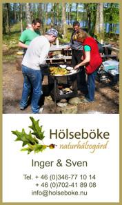 Utomhusmatlagning över öppen eld - aktivitet för konferenser i Hölseböke Naturhälsogård