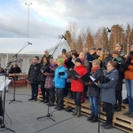 Ersbodakören och Björkstakören sjunger in våren