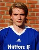 Jonas Richnau Ers-son gjorde två mål för sitt Matfors i genrepet mot Gran-lo. En nick och en straffspark.