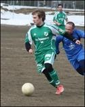 Daniel Näslund gjorde två mål mot Fränsta. Foto: Björn Sjödin.