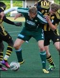 Robert Johansson satte viktiga 2-0-målet mot Svartvik. / Arkivfoto
