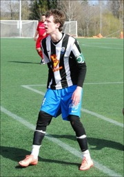 Hakim Rouass, Selånger 2, har gjort elva mål i Höstsexan, totalt 28 inkl. Grundserien. Foto: Janne Pehrsson, Lokalfotbollen.nu.