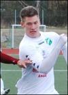 Oskar Nordlund på språng för ännu fler mål än dom två han gjorde.