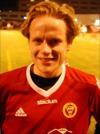 Robin Nordin blev stor kvalhjälte för Alnö. Två mål i onsdags följdes upp att ett till idag.