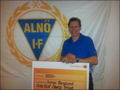 Årets pristagare av Sten-Olof Öberg-priset - Tomas Berglund, Alnö IF 2.