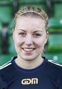 SDFF:s mittback Amanda Hagelberg gjorde sitt första seriemål för säsongen i sista matchen.