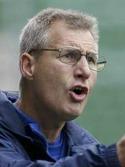 Kenneth Svensson, SDFF-tränaren, var nöjd med sina tjejer trots cupförlusten.