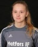 Nelly Melander, Matfors 15-åriga löfte mellan stolparna höll länge sitt lag kvar i matchenmot Sundsvalls FF tack vare sitt fina spel och tog bl a en straff.