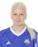 Emma Lundgren gjorde Matfors bägge mål i segermatchen mot Ljustorp.