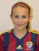 16-åriga Elsa Burvall avslutade matchen med ett äkta hattrick.