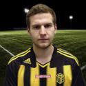 Niklas Nygren åter i Kubens gul-svart-randiga dress.