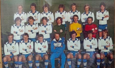 IFK Sundsvalls första allsvenska lag från 1976 med bl a Bosse Börjesson, Calle Fröberg och Tomas Grim.