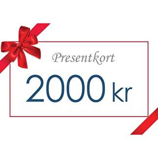 Presentkort 2000:- -
