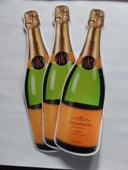 Stansad Champagneflaska