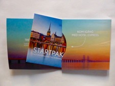 4 sid konvolut med broschyr